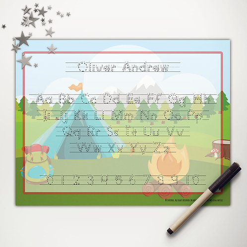 Tent Camping Writing Mat (print)
