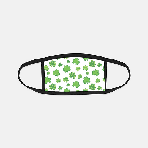 St. Patrick Fairy Clovers Black Edge Face Cover