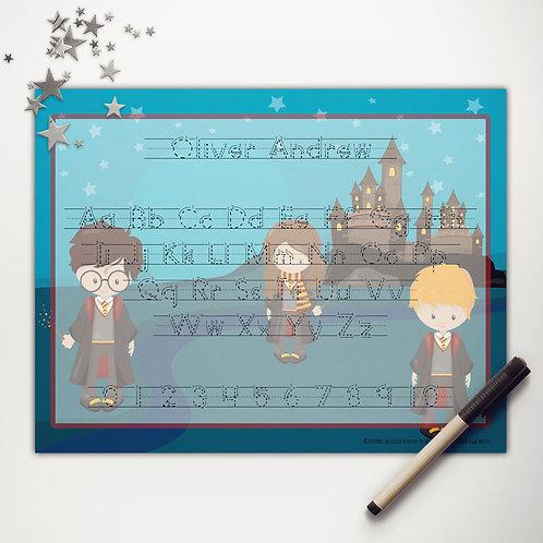 Wizard School Writing Mat (light skin | print)