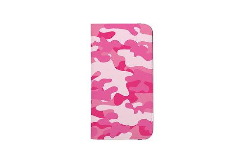 Pink Camo Folio Wallet Case