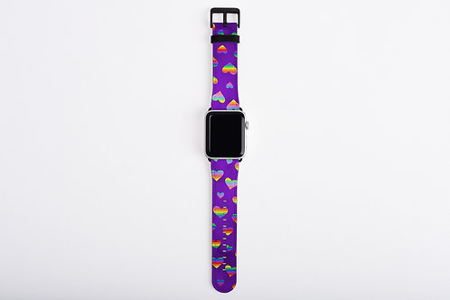 Valentine Pride Hearts Apple Watch Band