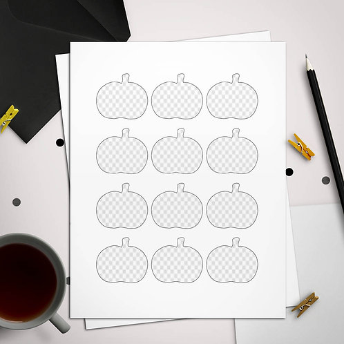 Rounded Pumpkin Toppers or Favor Tags Template
