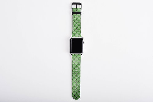 Emerald Blizzard Mermaid Scales Designer Apple Watch Band