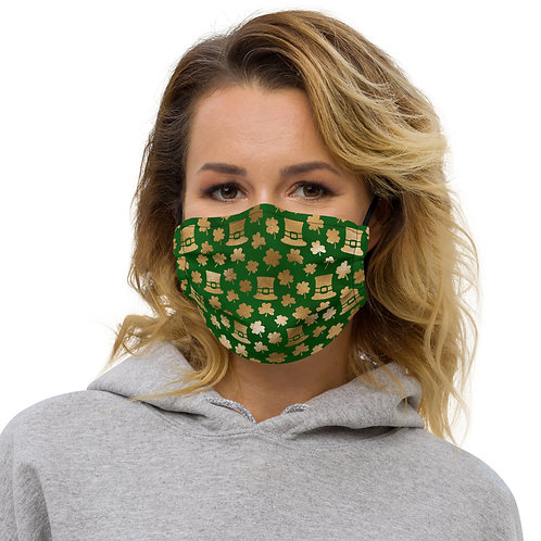 Luck Golden Luck St. Patrick's Day Premium Face Cover with Pocket