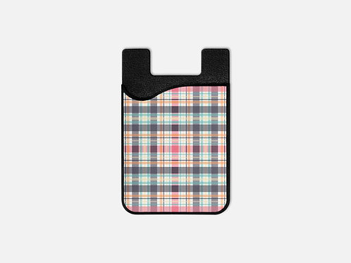 Tribal Plaid Pink Card Holder