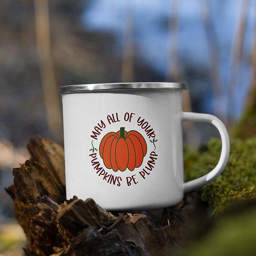 May All Your Pumpkins Be Plump Fall Vol. 5 Enamel Camp Mug