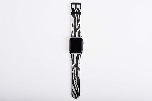 Luxury Safari Zebra Apple Watch Band