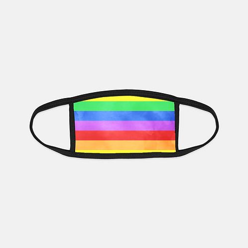 Valentine Pride Rainbow Black Edge Face Cover