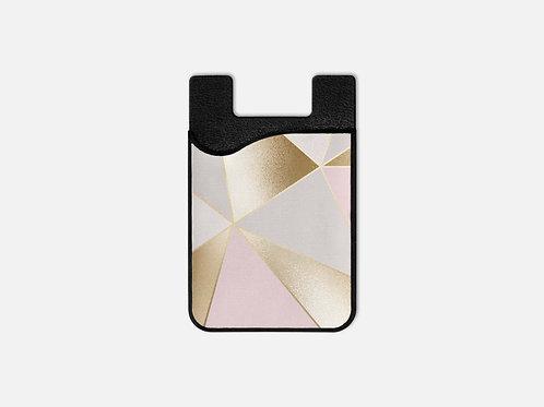 Rose + Gold Geo Triangles Card Holder