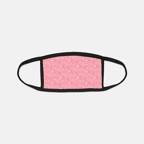 Yummy Sprinkles Strawberry Black Edge Face Cover