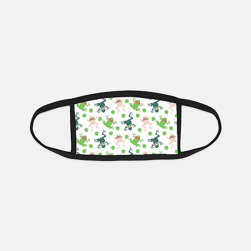 Floral Frogs Light Black Edge Face Cover