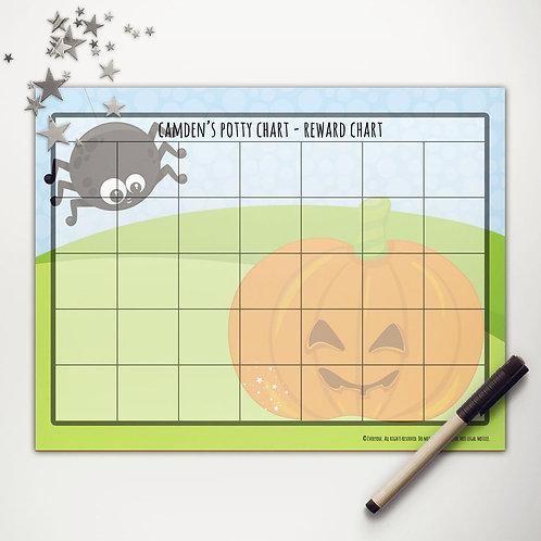 Pumpkin + Spider Basic Reward Chart