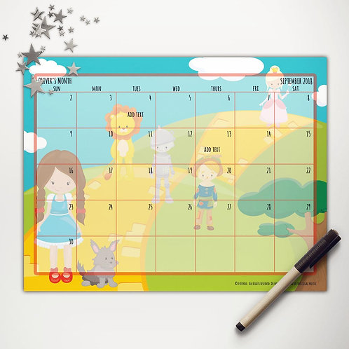 Yellow Brick Road Friends Monthly Calendar