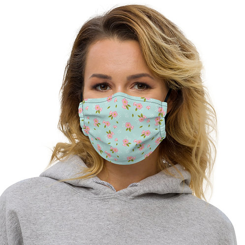 Grandma's Flowers Premium Face Cover with Pocket