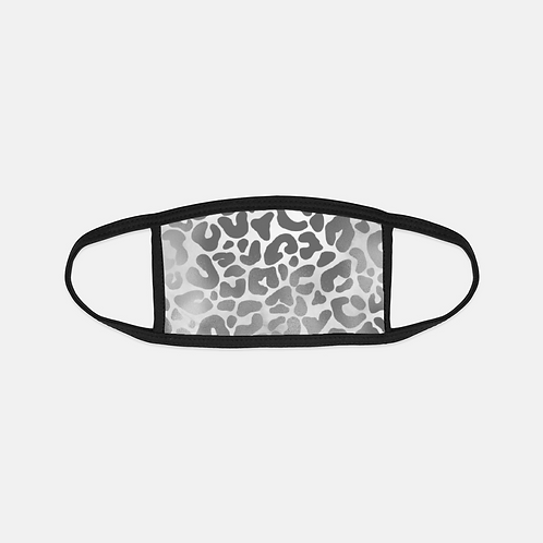 Luxury Safari Snow Leopard Black Edge Face Cover