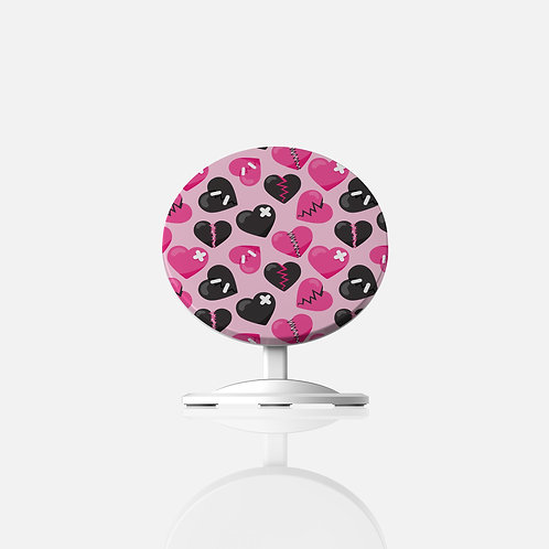 Anti-Valentines Fixed-Up Hearts Wireless Charger