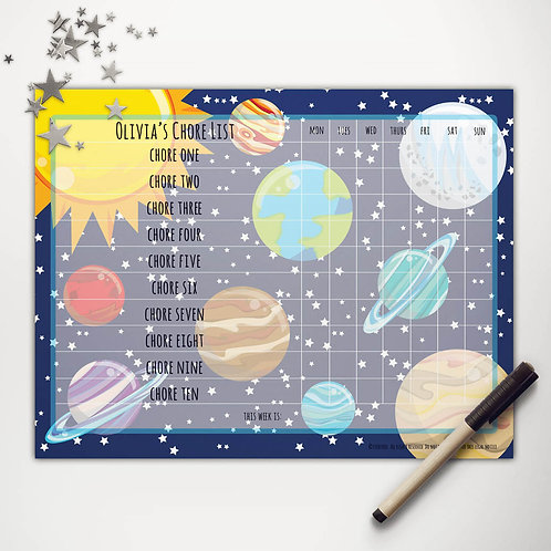 Solar System Basic Chore Chart