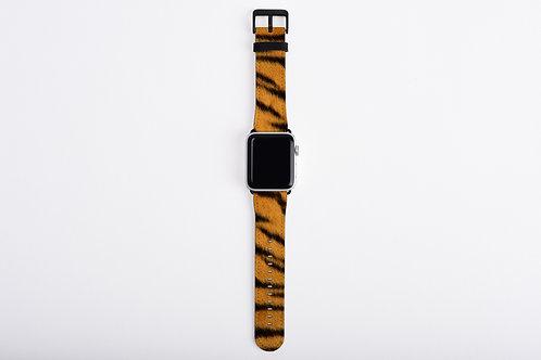 Tiger Skin Texture Print Apple Watch Band
