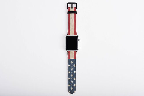 Patriotic United States Flag Designer Apple Watch Band