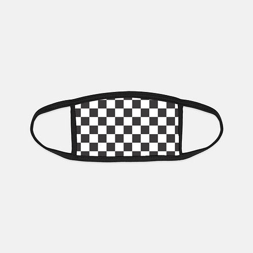 Checkered Flag Black Edge Face Cover