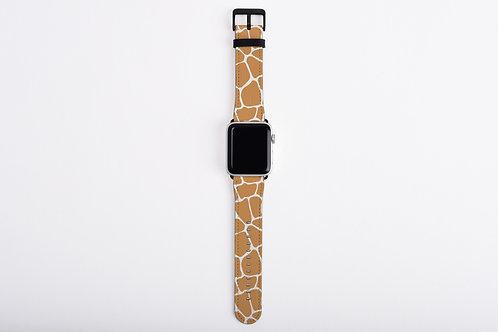 Giraffe Print Designer Apple Watch Band