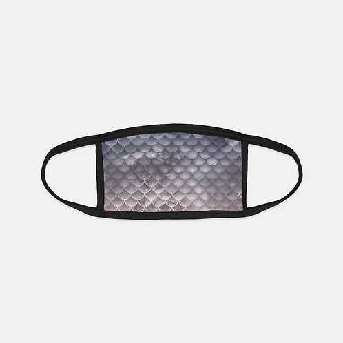 Blush + Navy Storm Mermaid Scales Black Edge Face Cover