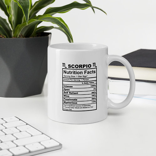 Scorpio Nutrition Facts Zodiac Nutrition Facts Vol. 1 Mug