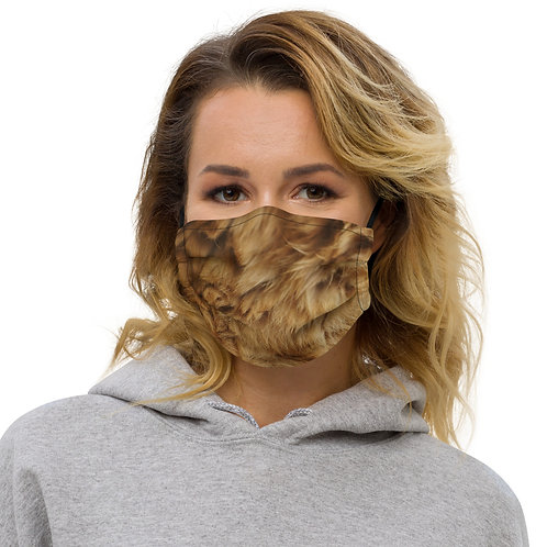 Lion Skin Texture Print Premium Face Cover with Pocket