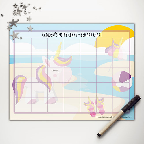 Unicorn Pool Party Basic Reward Chart