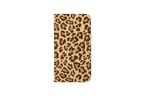 Leopard Print Folio Wallet Case