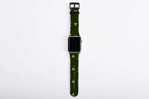 Christmas Elves Trees Apple Watch Band