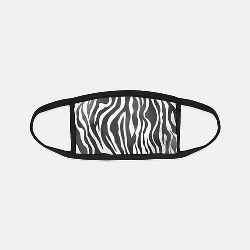 Luxury Safari Zebra Black Edge Face Cover