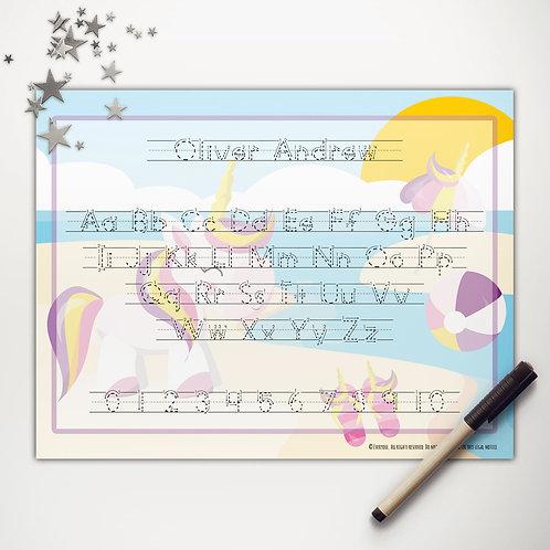 Unicorn Pool Party Writing Mat (print)