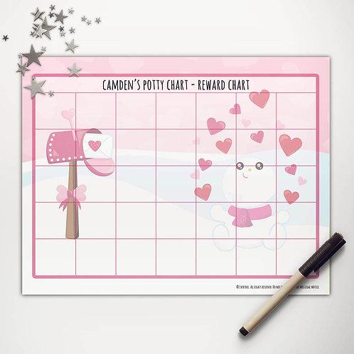 Valentine Snowman Basic Reward Chart