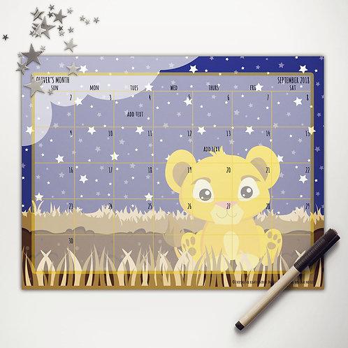 Pride Lands Little Lion Monthly Calendar