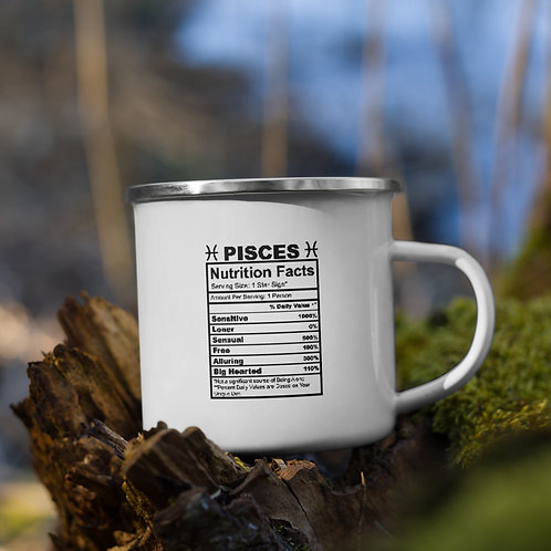Pisces Nutrition Facts Zodiac Nutrition Facts Vol. 1 Camp Mug