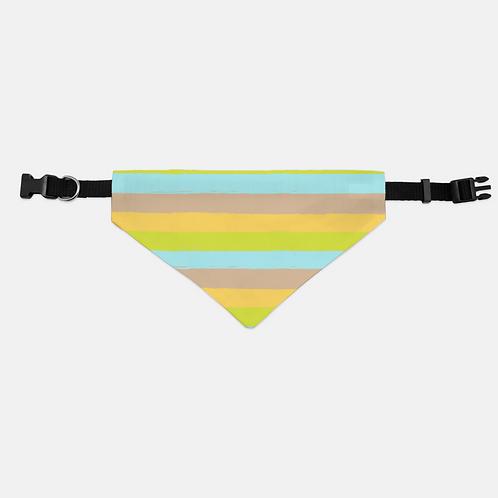 Dreamy Bear Stripes Pet Bandana Collar