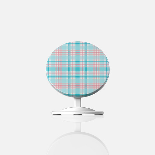 Gender Reveal Plaid Wireless Charger