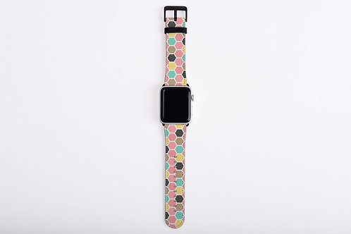Dreamy Deer Hexagons Apple Watch Band