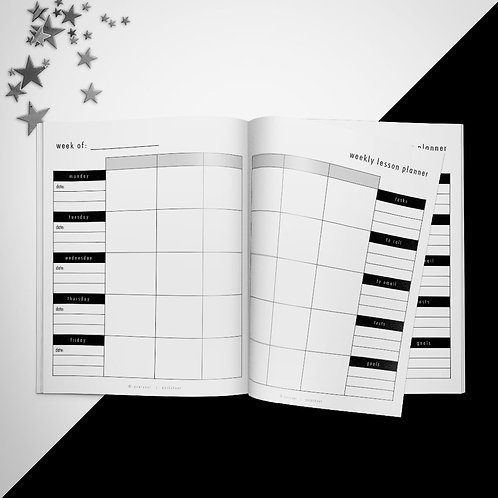 Two Page Weekly Lesson Planner PowerPoint Template