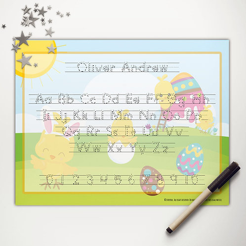 Easter Chicks Painting Writing Mat (print)