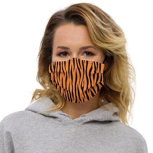 Tiger Print Premium Face Cover with Pocket