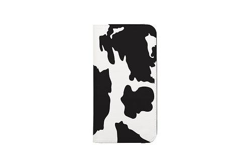 Cow Print Folio Wallet Case