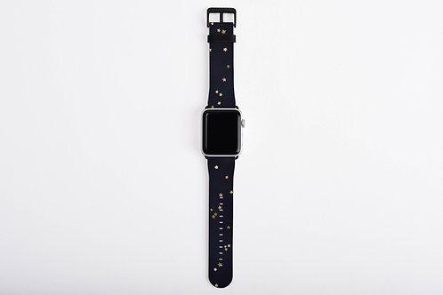 Navy + Gold Stars Designer Apple Watch Band