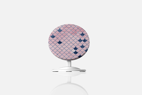 Blush + Navy Heavenly Mermaid Scales Wireless Charger