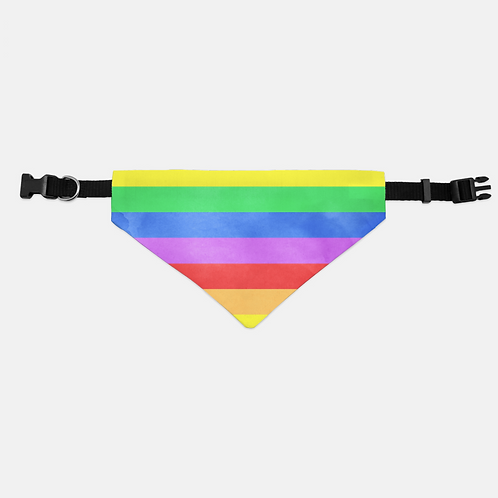 Valentine Pride Rainbow Pet Bandana Collar