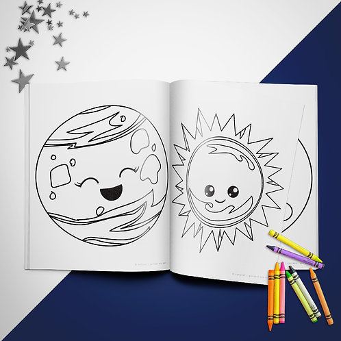 Solar System Coloring Book Pages