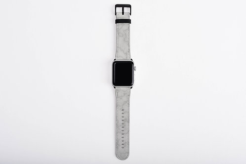 Silver Marble Apple Watch Band