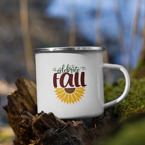 Celebrate Fall Sunflower Fall Vol. 5 Enamel Camp Mug