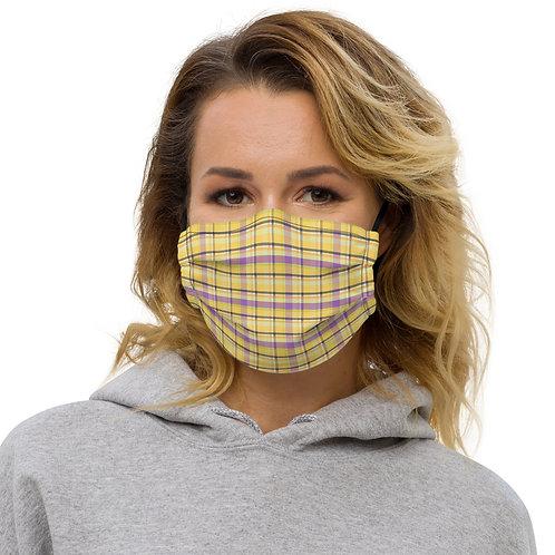 Halloween Ki Plaid Premium Face Cover with Pocket